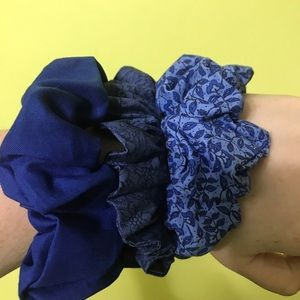 Blue Scrunchie Set